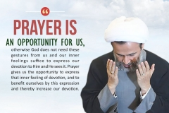 Prayer is an opportunity for us, otherwise God does not need these gestures from us and our inner feelings suffice to express our devotion to Him and He sees it. Prayer gives us the opportunity to express that inner feeling of devotion, and to benefit ourselves by this expression and thereby increase our devotion.