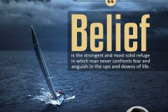 Belief is the strongest and most solid refuge in which man never confronts fear and anguish in the ups and downs of life.