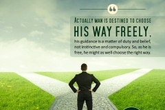 Actually man is destined to choose his way freely, His guidance is a matter of duty and belief, not instinctive and compulsory. So, as he is free, he might as well choose the right way.