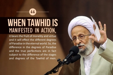 when Tawhid is manifested in action, it bears the fruit of morality and virtue and it will effect the different degrees of paradise in the eternal world. So, the difference in the degrees of the Paradise and the true perfections are in fact subject to the difference of the stages and degree of the Tawhid of men.