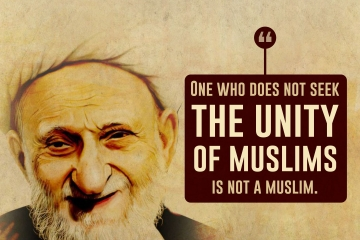 One who does not seek the unity of muslims is not a muslim.