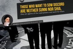 Those who want to sow discord are neither Sunni nor Shia, they are agents of the superpowers and work for them.