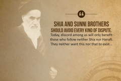 Shia and Sunni brothers should avoid every kind of dispute. Today, discord among us will only benefit those who follow neither Shia nor Hanafi. They neither want this nor that to exist...