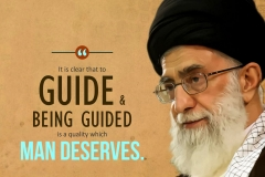 It is clear that to guide and being guided is a quality which man deserves.