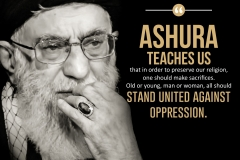 """Ashura teaches us that in order to preserve our religion, one should make sacrifices. Old or young, man or woman, all should stand united against oppression."""