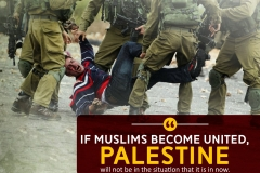 If Muslims become united, Palestine will not be in the situation that it is in now.