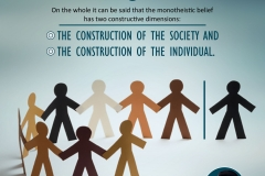 """On the whole it can be said that the monotheistic belief has two constructive dimensions: the construction of the society and the construction of the individual."""