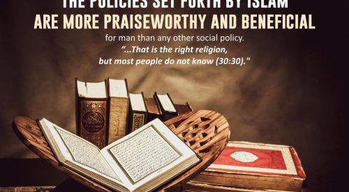 Policies Set by Islam (Allama Tabatabai)