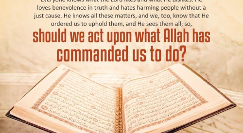 Act Upon What Allah has Commanded