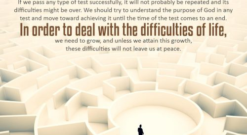 Deal with the Difficulties of Life