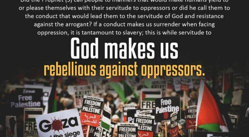 God Make Us Rebellious Against Oppressors