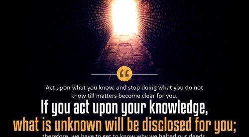 Act Upon Your Knowledge (Ayatollah Taqi Bahjat)