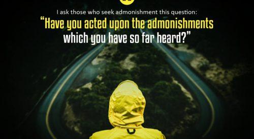 Act upon the Admonishments (Ayatollah Taqi Bahjat)