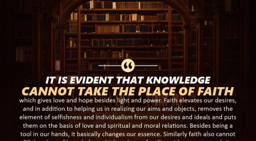 Knowledge Can't Take the Place of Faith