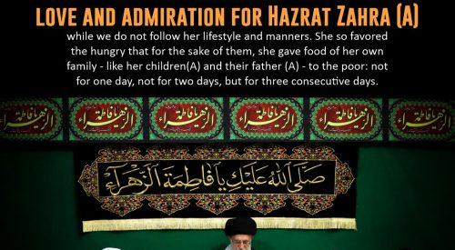 Love and Admiration for Hazrat Fatima (A)