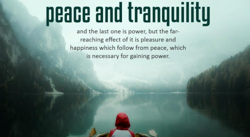 Impact of Faith in God is Peace and Tranquility