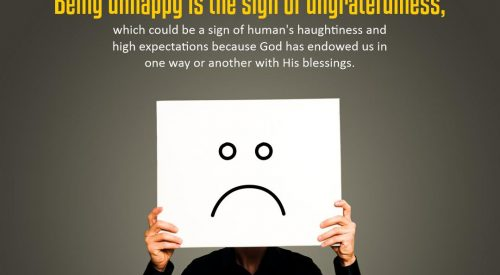 Being Unhappy is the Sign of Ungratefulness (Alireza Panahian)