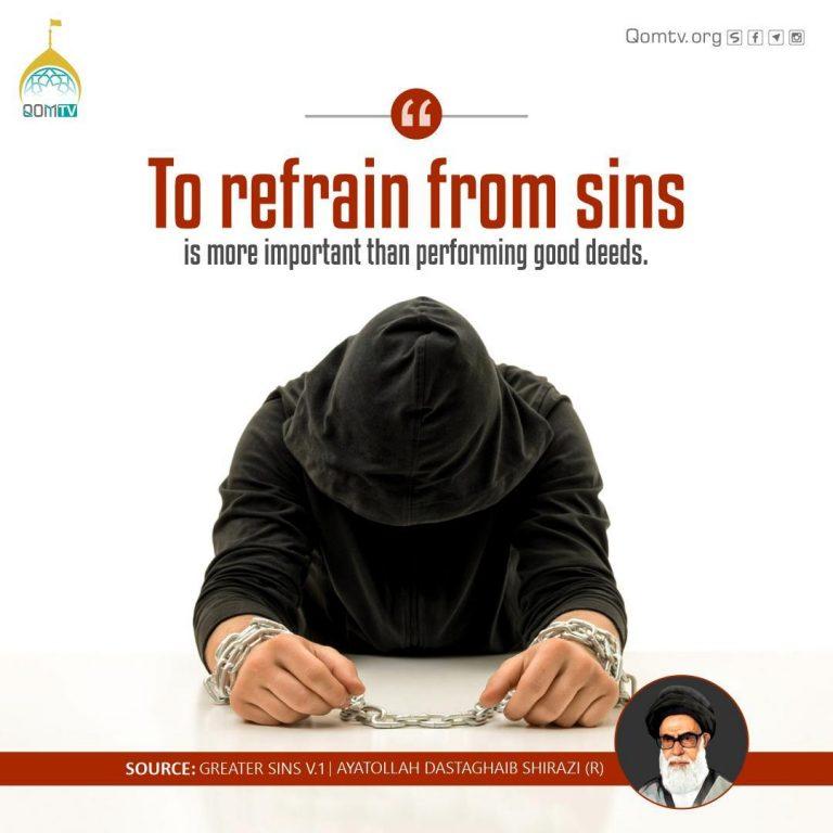 Refrain from Sins