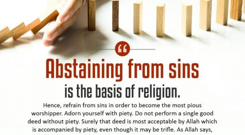 Abstaining from Sins is the Basis of Religion