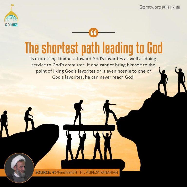Shortest Path Leading to God