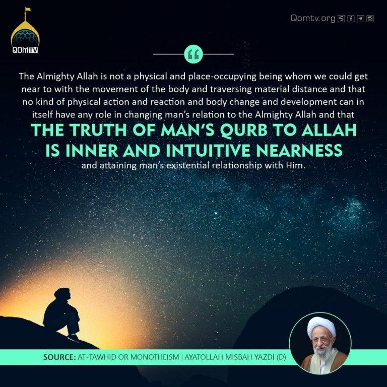 Man's Qurb to Allah