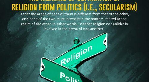 Separation of Religion and Politics
