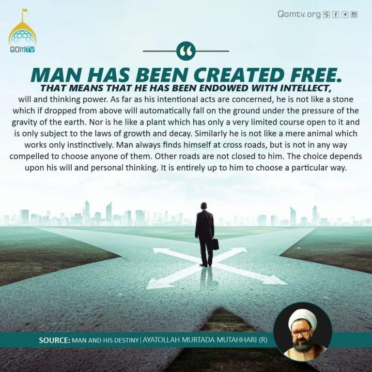 Man Has Been Created Free (Murada Mutahhari)