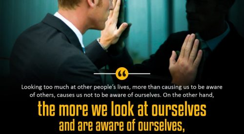 More We Look at Ourselves and aware of ourselves