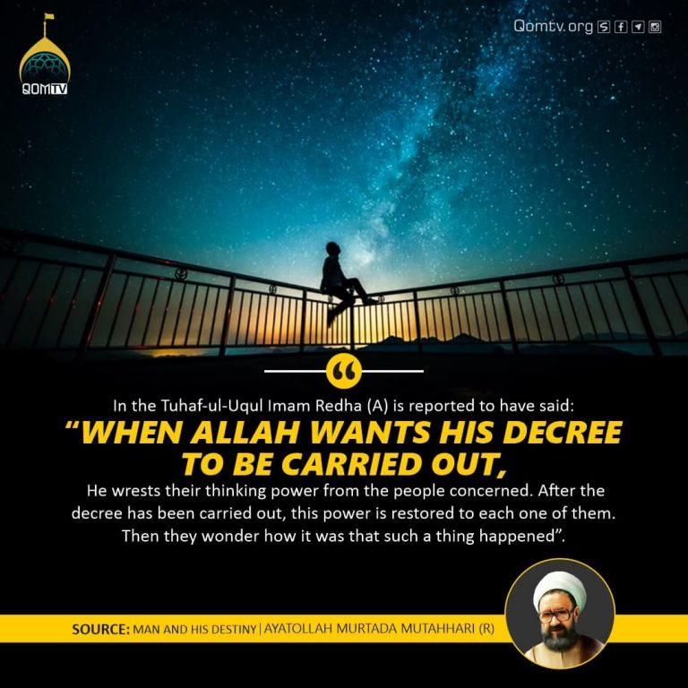 Man and his Destiny ( Ayatollah Murtaza Mutahhri)