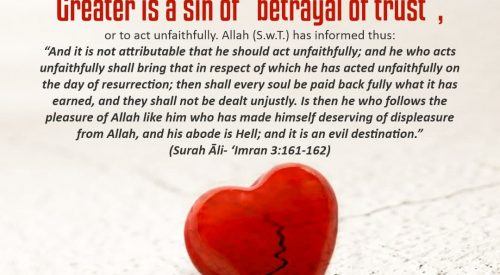 Betrayal of Trust is a Greater Sin