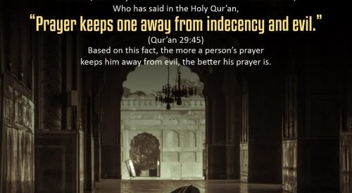 Prayers Keeps one away from indecency and evil