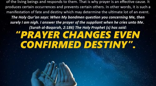Prayer Changes Even Confirmed Destiny