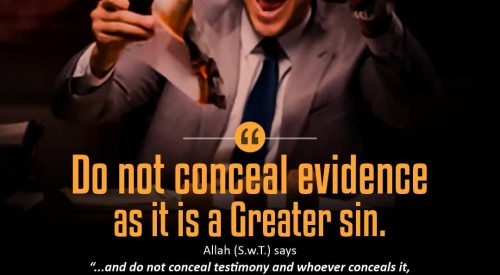 Conceal Evidence is a Greater sin