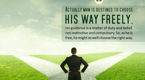 Man Choose his way Freely